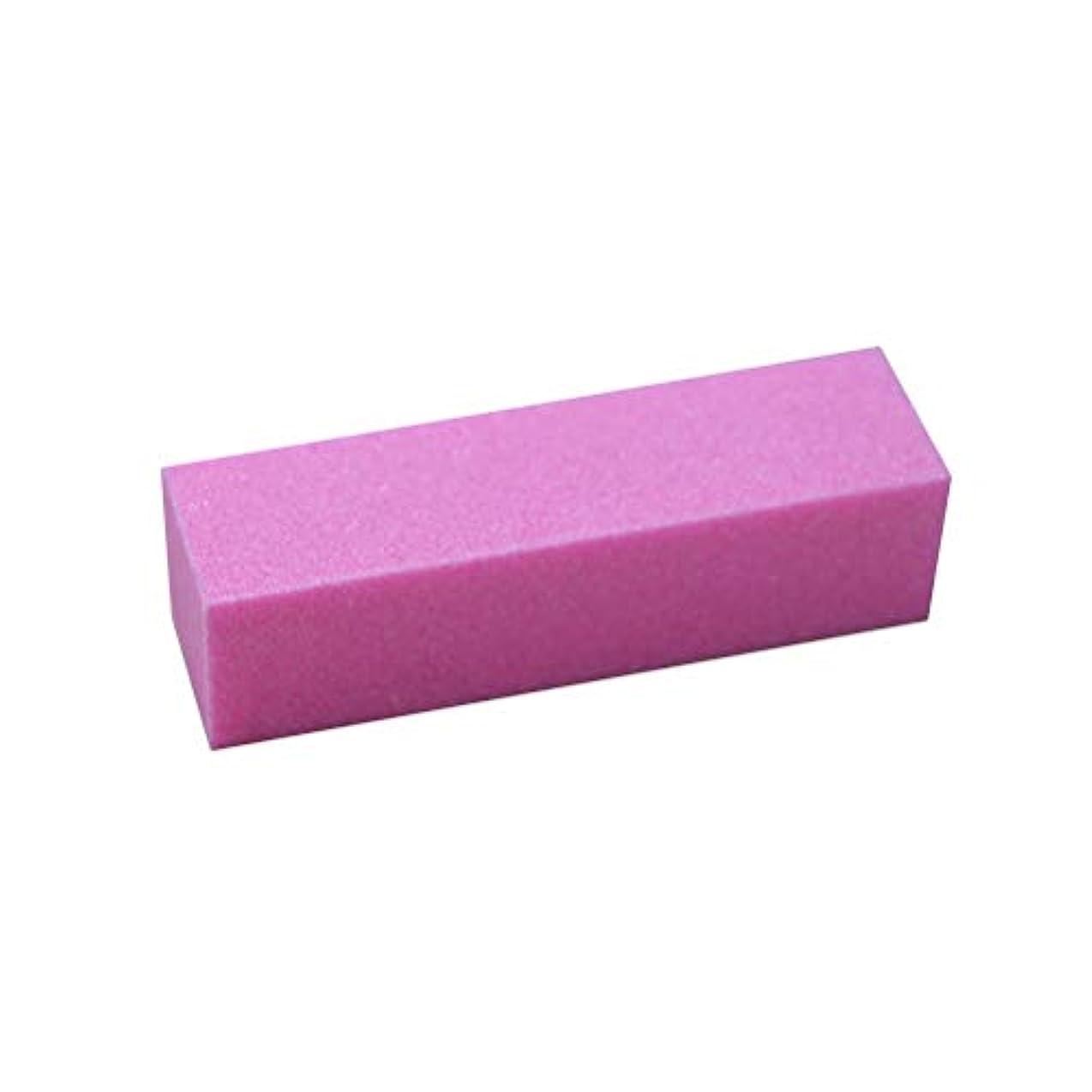 の中で誇張購入LURROSE サンディングバフネイルポリッシャーポリッシュバッファバフブロックネイルファイルマニキュアアートペディキュアケアツール(ピンク)