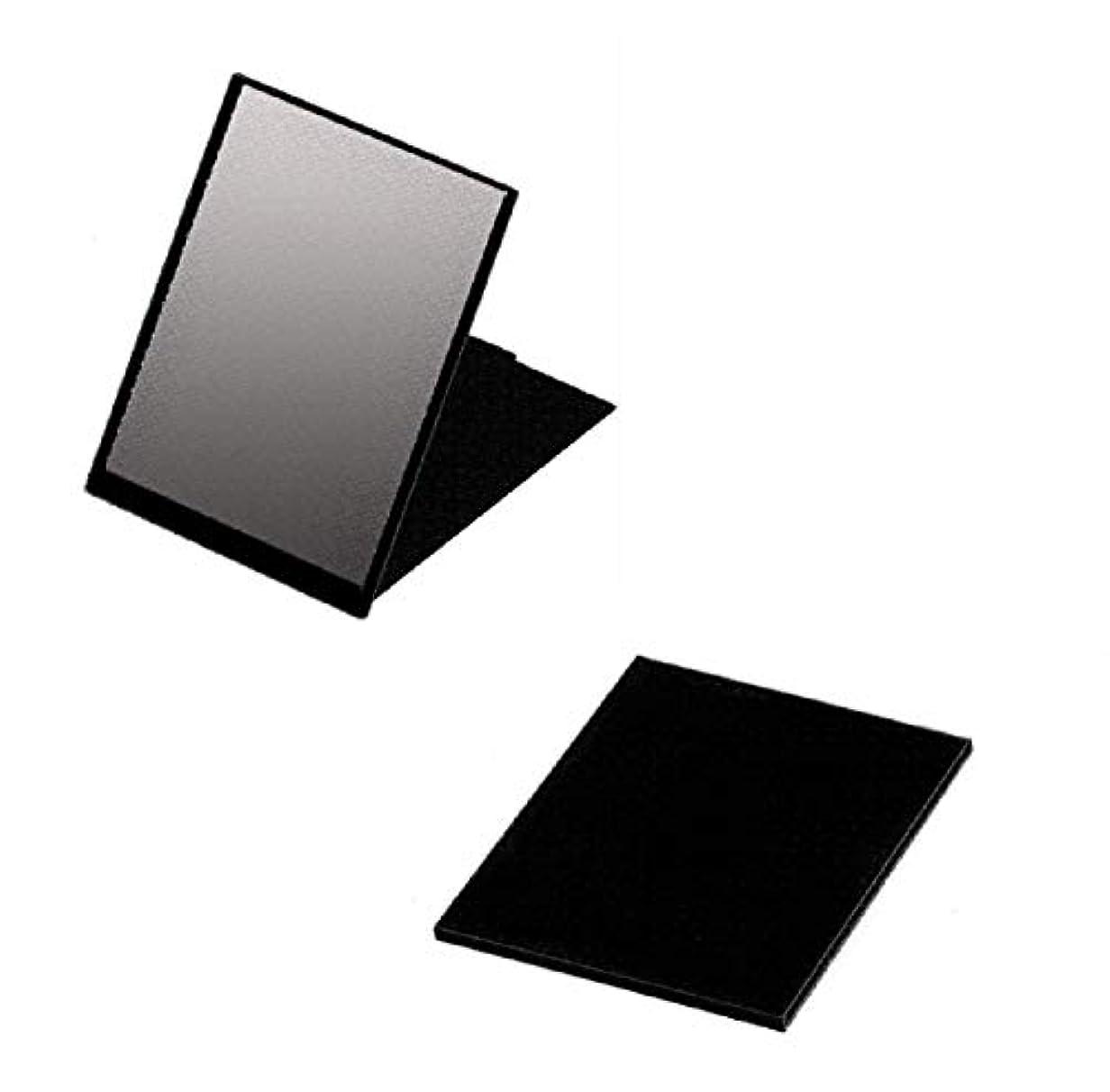 再編成する十代の若者たちマウスピースハイパービュースリム&ライトコンパクトミラー(M) HV-001 ブラック