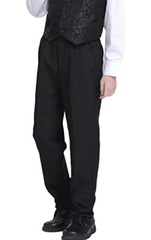 (ルノン)Lunon 男の子フォーマルズボン 子供スーツ スラックス キッズ スーツ ゆったり パンツ キッズフォーマル男の子 入学式 卒業式 結婚式 ピアノ発表会 正装 発表会 お呼ばれ パーティー 黒