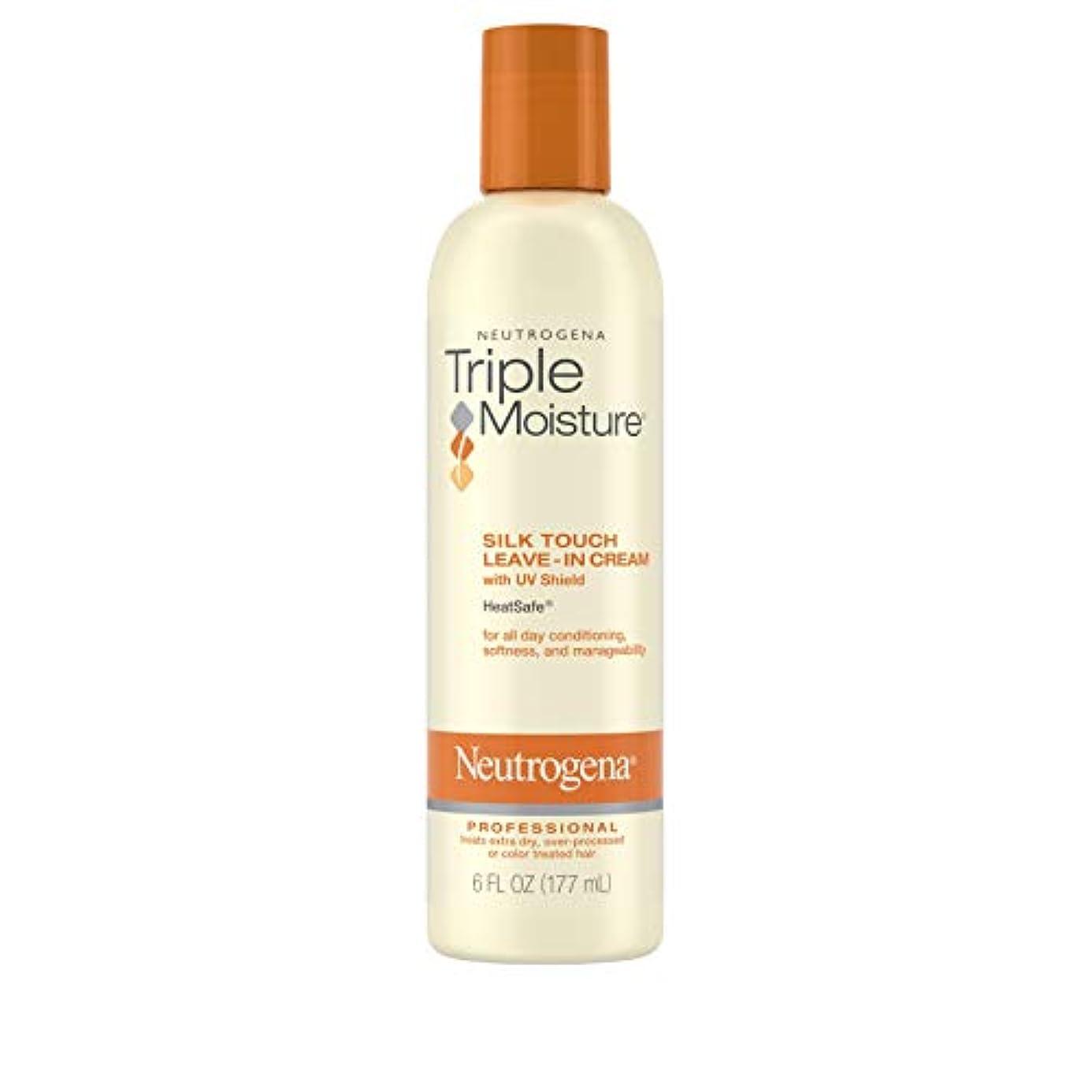 帆夫婦ストッキングNeutrogena Triple Moisture Silk Touch Leave-In Cream 175 ml (並行輸入品)