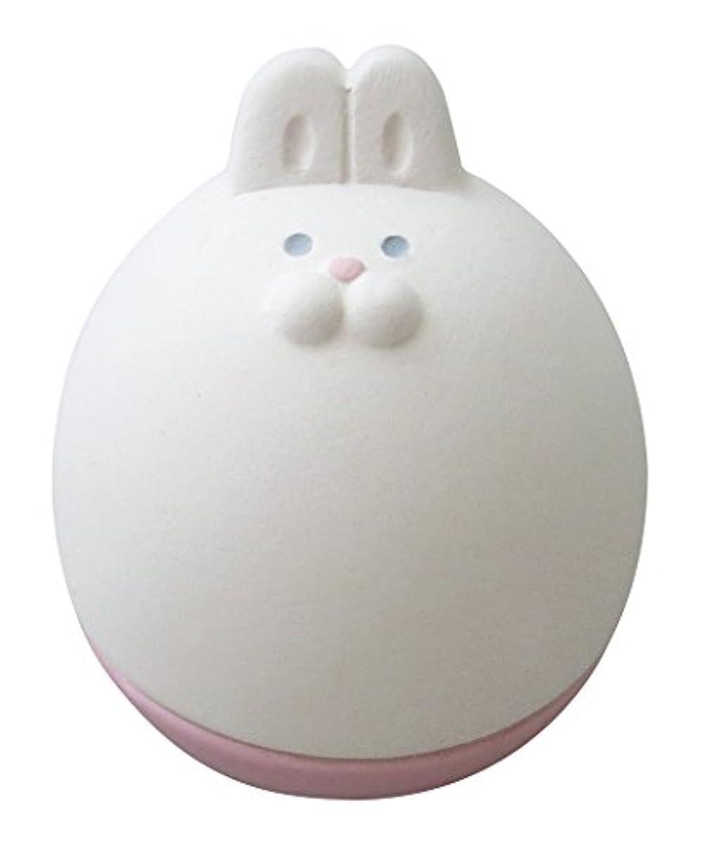 ワイプヨーロッパ無声でデコレ(DECOLE) アロマおきあがりこぼし ホワイト 5.0×5.7×h6.3 うさ AG-92303