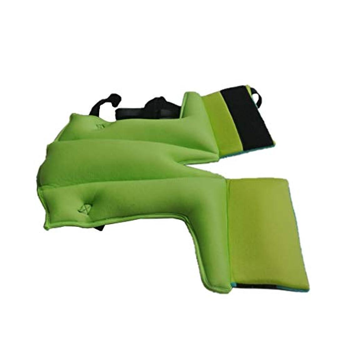 免除エクスタシーフィヨルドSUPVOX フットサポートピローヒールプロテクタークッションホームベッド用レッグウェッジピロー(ブルーグリーン)