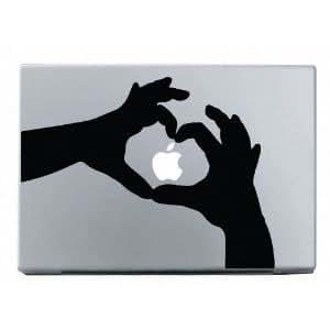 Heart Hands  Mac Book用(Air Pro含む)アートステッカー