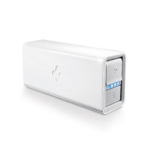 SPIGEN SGP iPhone 5 Battery Kuel F60Q External Battery Pack Charger for Apple iPhone 4 / 4S, Samsung Galaxy S3, iPod, iPad 1 / 2 / The new iPad and other Android Devices [White] [並行輸入品]