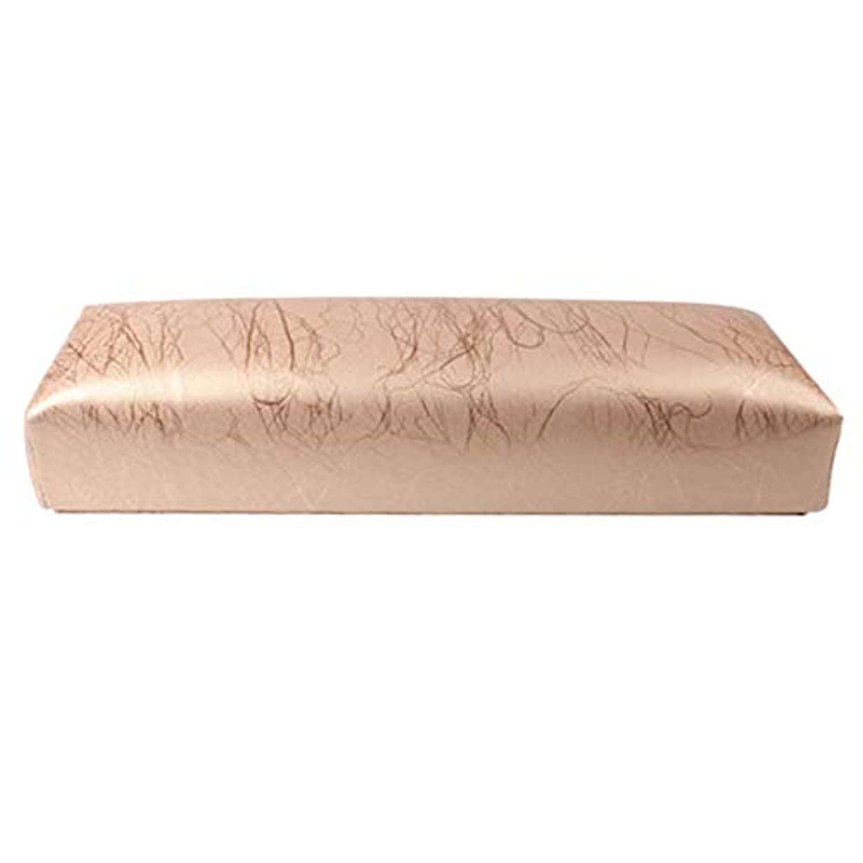 マオリスマート雪のTOOGOO ネイル用マニキュアハンド枕長方形PUレザーハンドレストクッションネイルピローサロンハンドホルダーアームレストレストマニキュアネイルアートアクセサリーツールゴールド