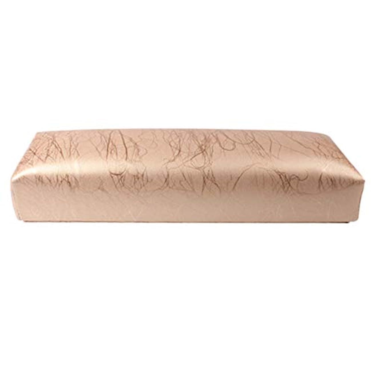 採用する傑出したペチコートGaoominy ネイル用マニキュアハンド枕長方形PUレザーハンドレストクッションネイルピローサロンハンドホルダーアームレストレストマニキュアネイルアートアクセサリーツールゴールド