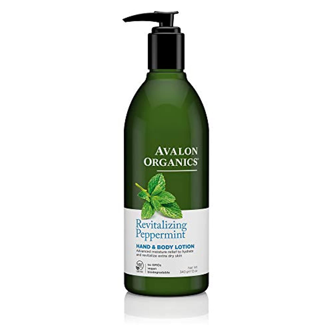 不純エイリアスに対処するAvalon Organics Peppermint Hand And Body Lotion, 12-Ounce Bottle (Pack of 2) by Avalon [並行輸入品]