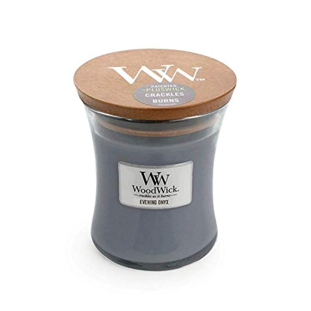 軍レギュラーサーバイブニングオニキスWoodWick 10 oz Medium砂時計Jar Candle Burns 100時間