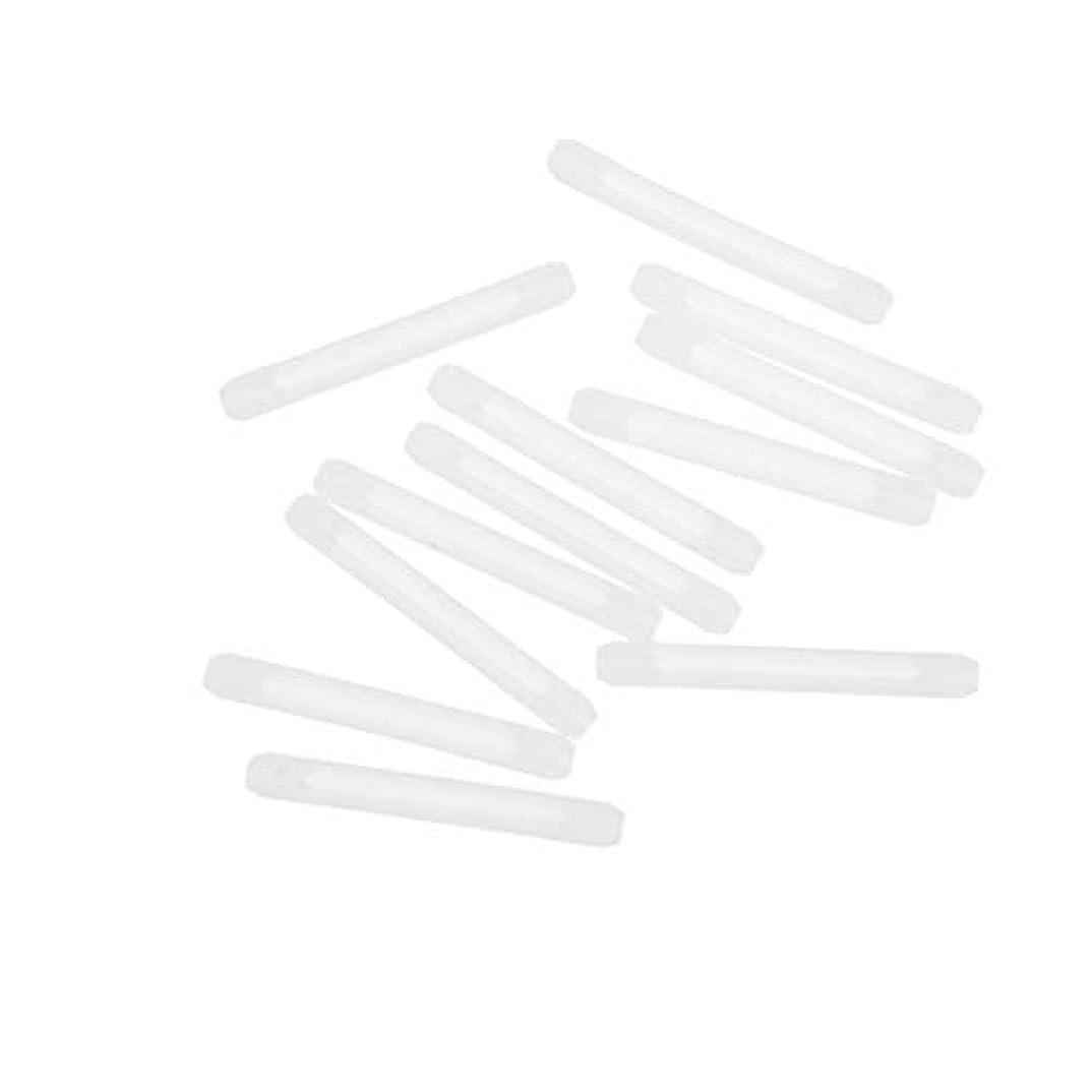 癌達成可能テクスチャーHealifty メガネホルダー滑り止めシリコンメガネアクセサリー20pcs(ホワイト)