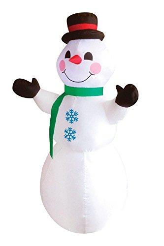 行事03171インフレータブルクリスマス雪だるま、4?'、ホワイト