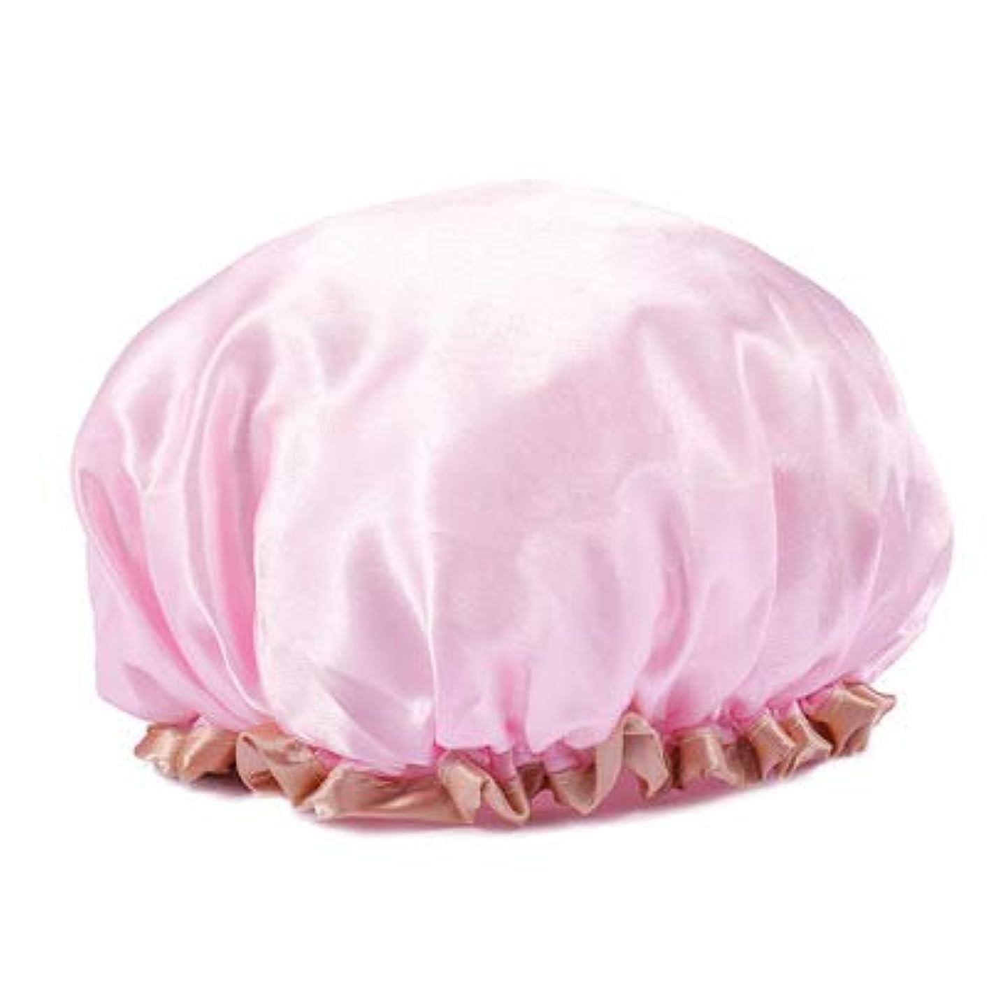 構造アレルギーキャプションDavine 2個の女性のシャワーキャップ防水大人フードロングヘア肥厚かわいいシャワーバスシャワー帽子 (07)