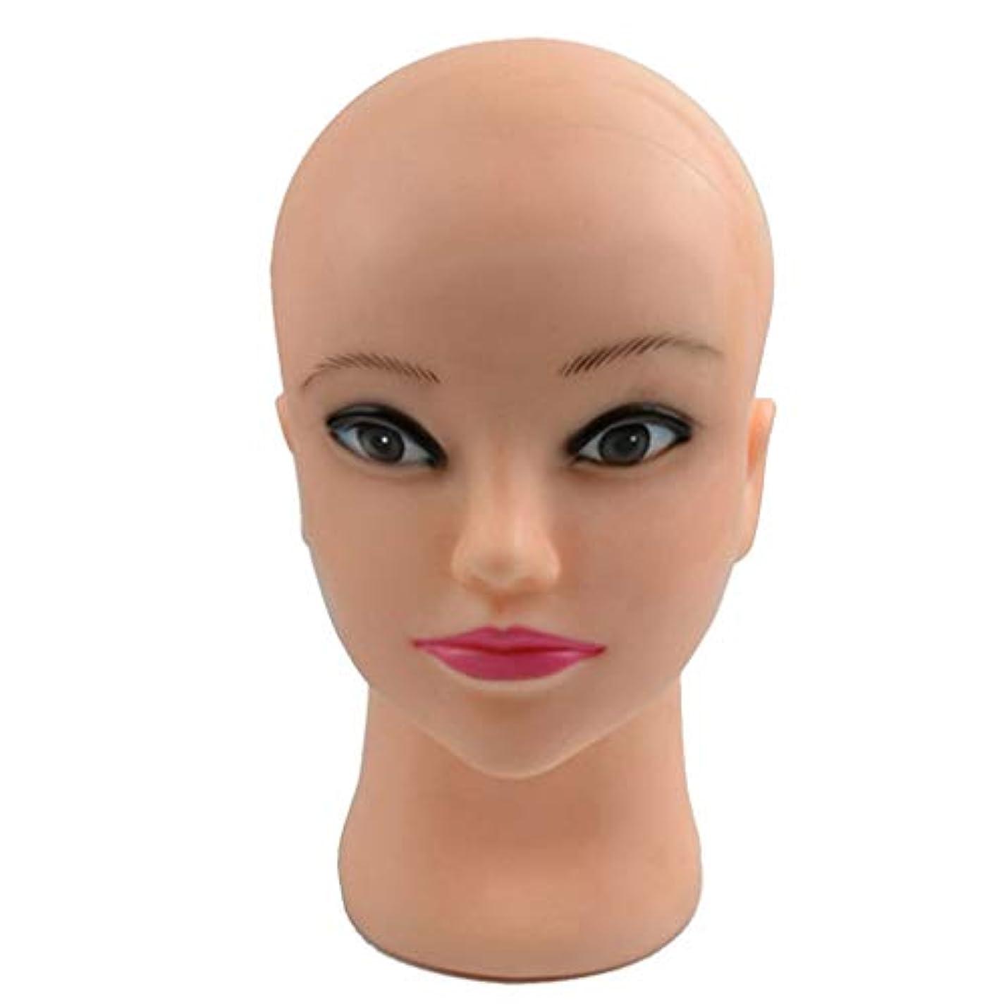 ライブ陰気収容するマネキンヘッド メイク メイクトレーニング 化粧練習 アイライナー 口紅 エクステまつげ