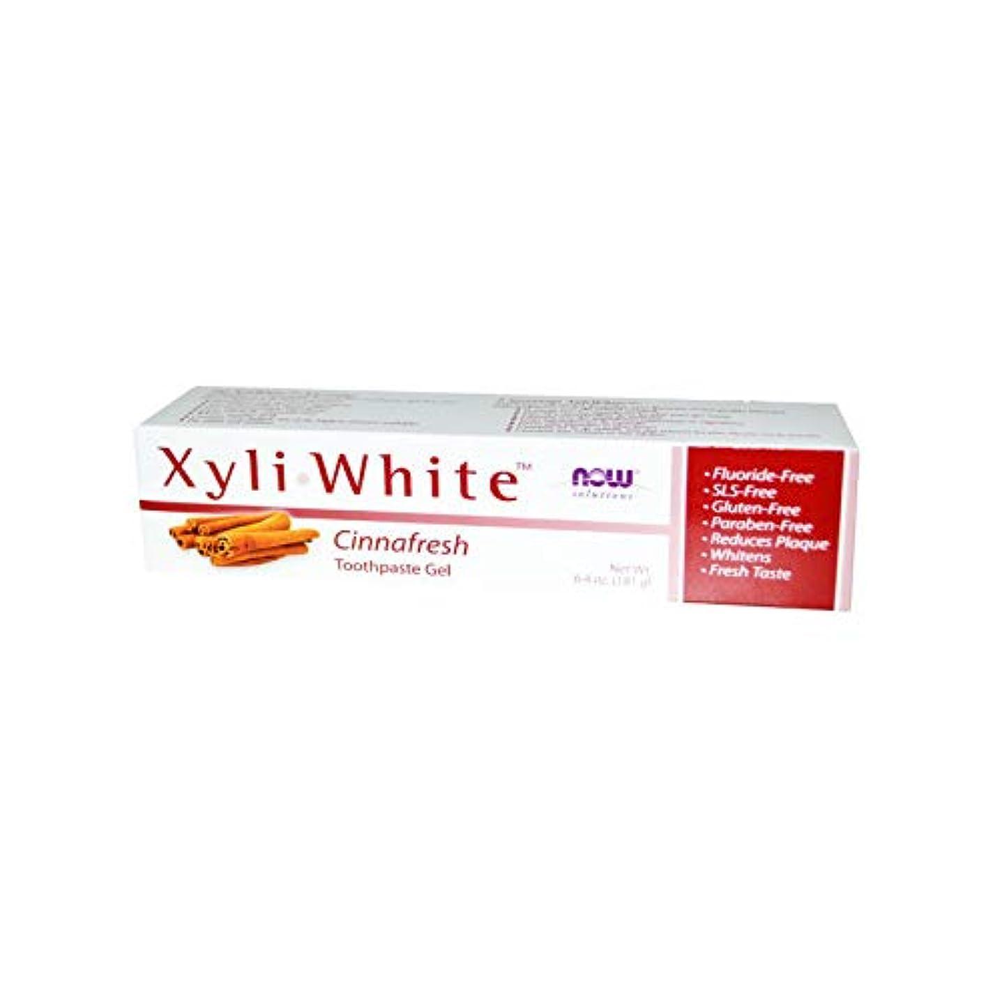 ブロック差し迫った狂乱海外直送品 Now Foods XYLIWHITE TOOTHPASTE, 6.4 oz NATURAL-CINNAMON