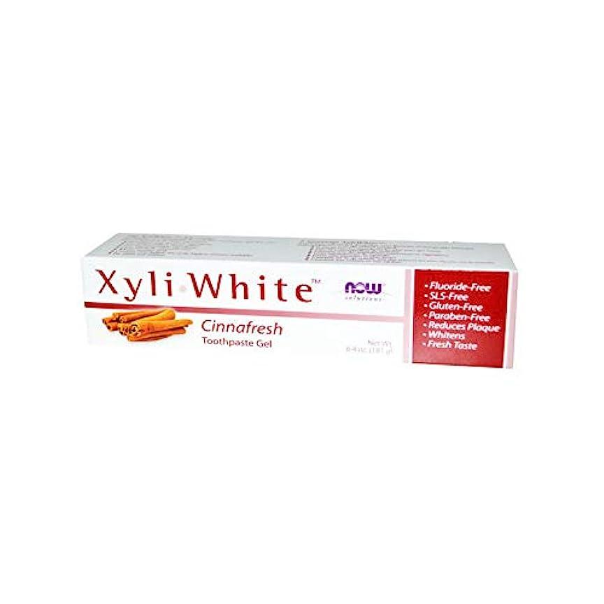 油アウトドアすべき海外直送品 Now Foods XYLIWHITE TOOTHPASTE, 6.4 oz NATURAL-CINNAMON