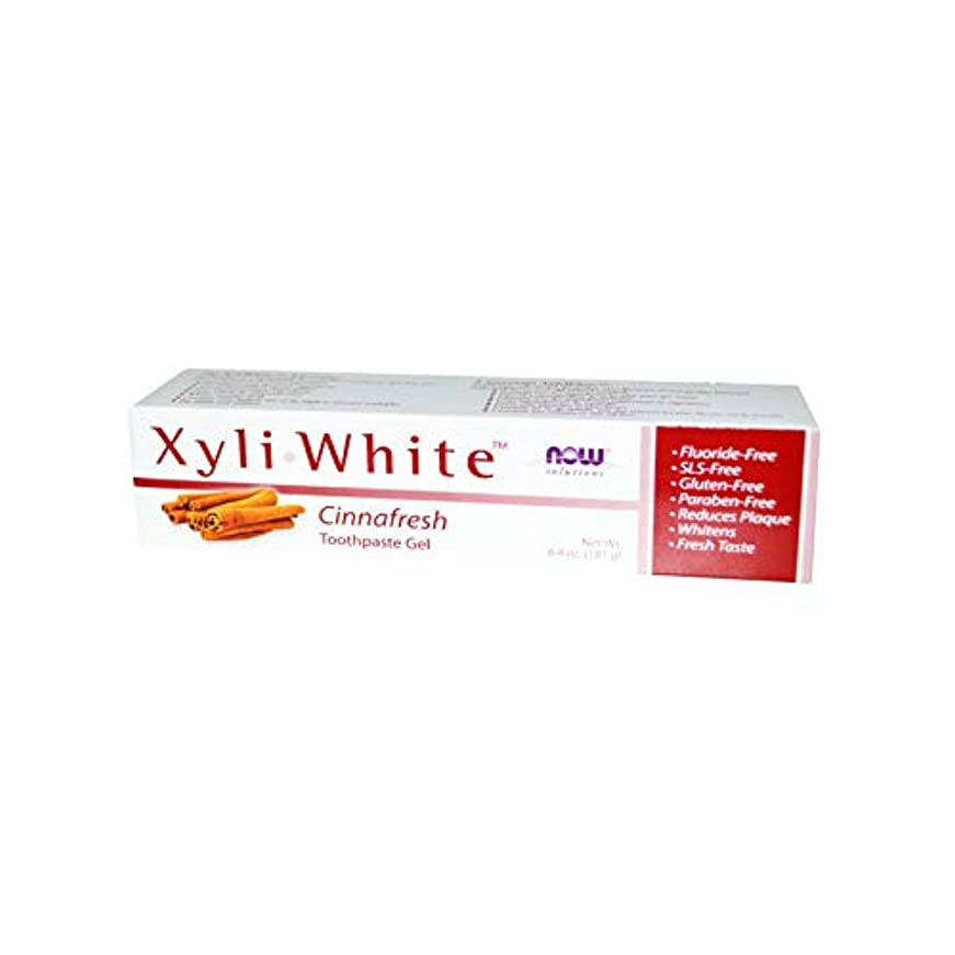 に話すここにどこでも海外直送品 Now Foods XYLIWHITE TOOTHPASTE, 6.4 oz NATURAL-CINNAMON