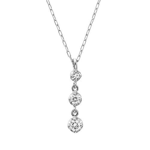 4℃ (ヨンドシ-) ダイヤモンド  K18 ホワイトゴールド(WG)ネックレス 111231123205