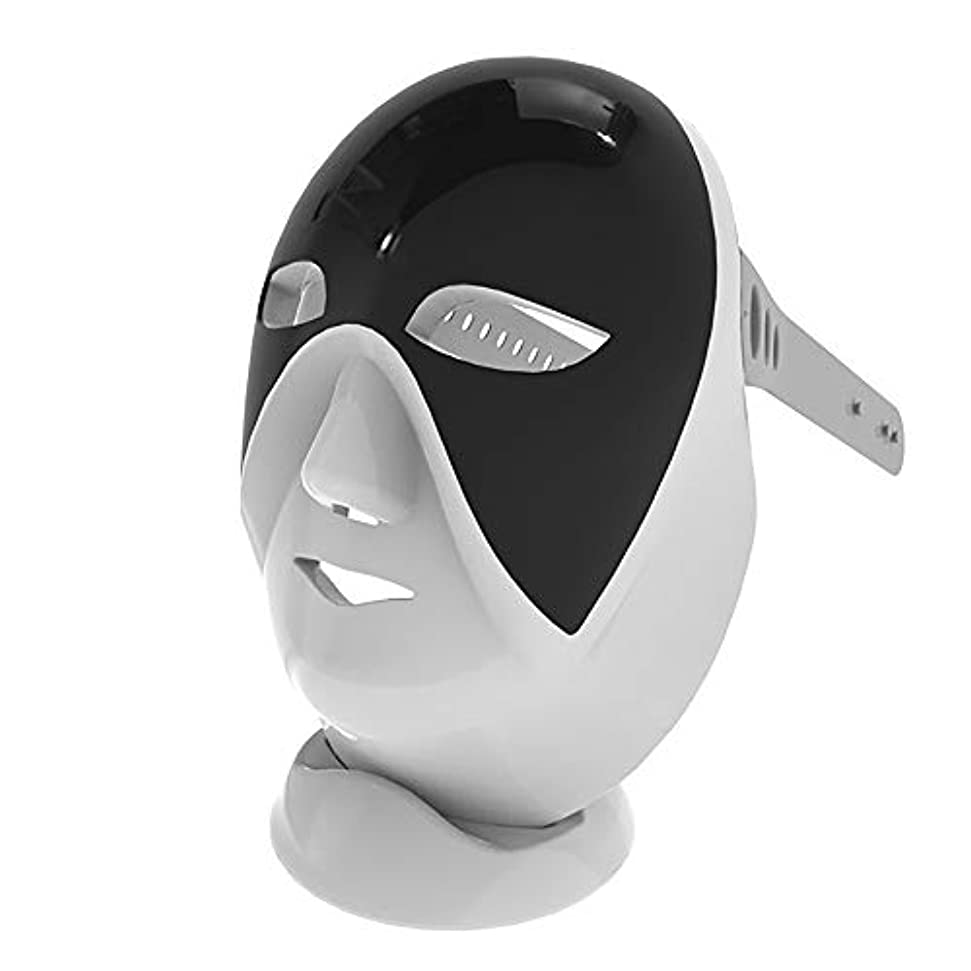 カバー偏見入射7色LEDマスク光子光肌若返り療法、韓国スキンケア、フェイシャルスキンケアマスク