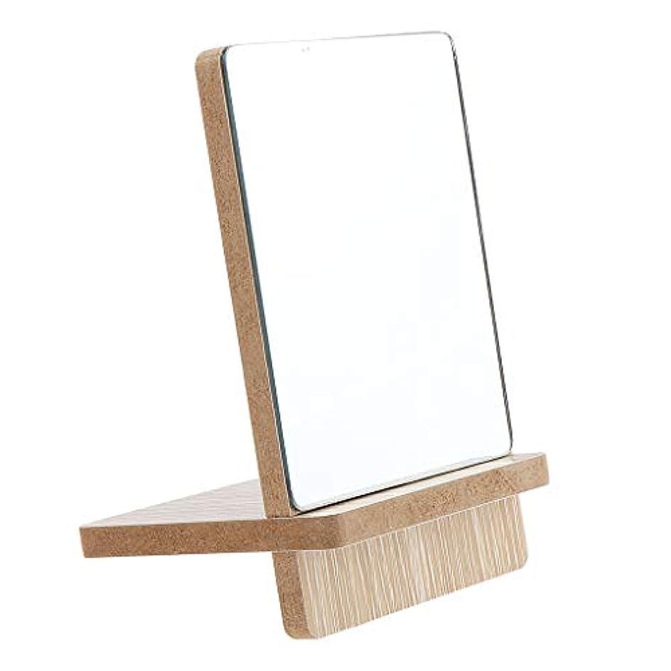 プランター予知トラフィックF Fityle メイクアップミラー バスルーム シェービング バニティミラー 立てミラー 木製 3サイズ選べ - 小