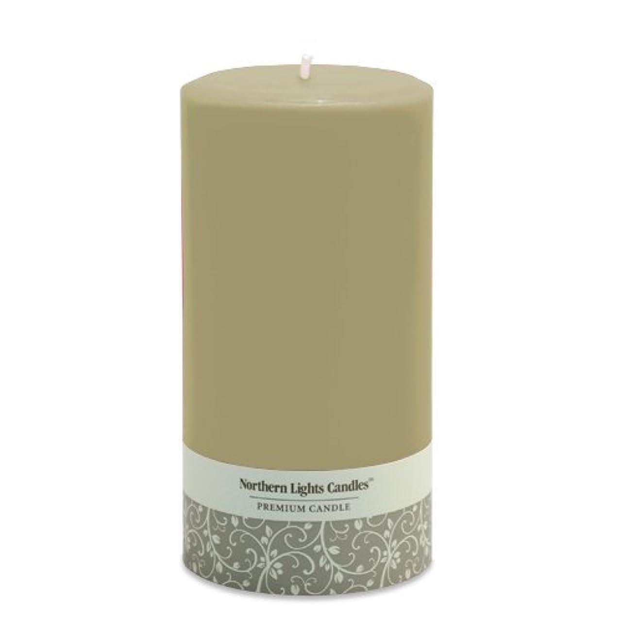 誇大妄想思慮のない交響曲Northern Lights Candles Fragrance Free Pillar Candle, 3 by 6-Inch, Sand [並行輸入品]