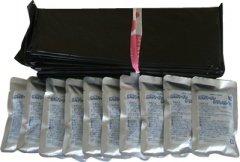 【災害用・非常用トイレ】ほっ!トイレタブレット(100袋入)+処理ビニール袋付(45Lビニール袋110枚付き) <Seishop>