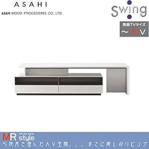 朝日木材加工 70V型まで対応 伸縮式テレビ台 (ホワイト)ADK MRstyle AS-MR1500-W
