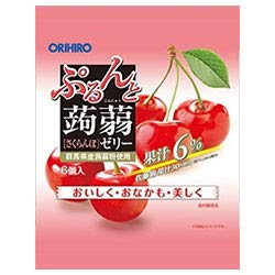 オリヒロ ぷるんと蒟蒻ゼリー さくらんぼ 20gパウチ×6個×24袋入×(2ケース)