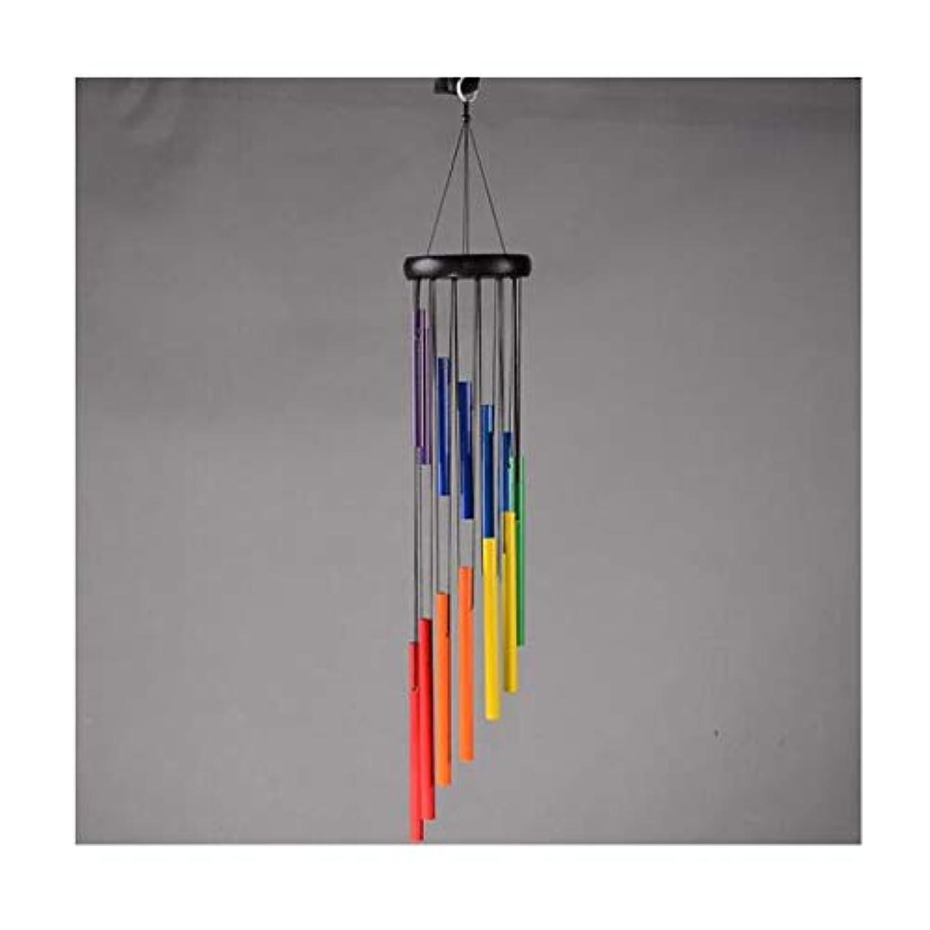 多様体これらさておき風チャイム、風チャイム、クリエイティブ誕生日プレゼント、女の子ベッドルームバルコニー装飾のペンダントを金属製の回転七つの色 (Size : 74*12cm)