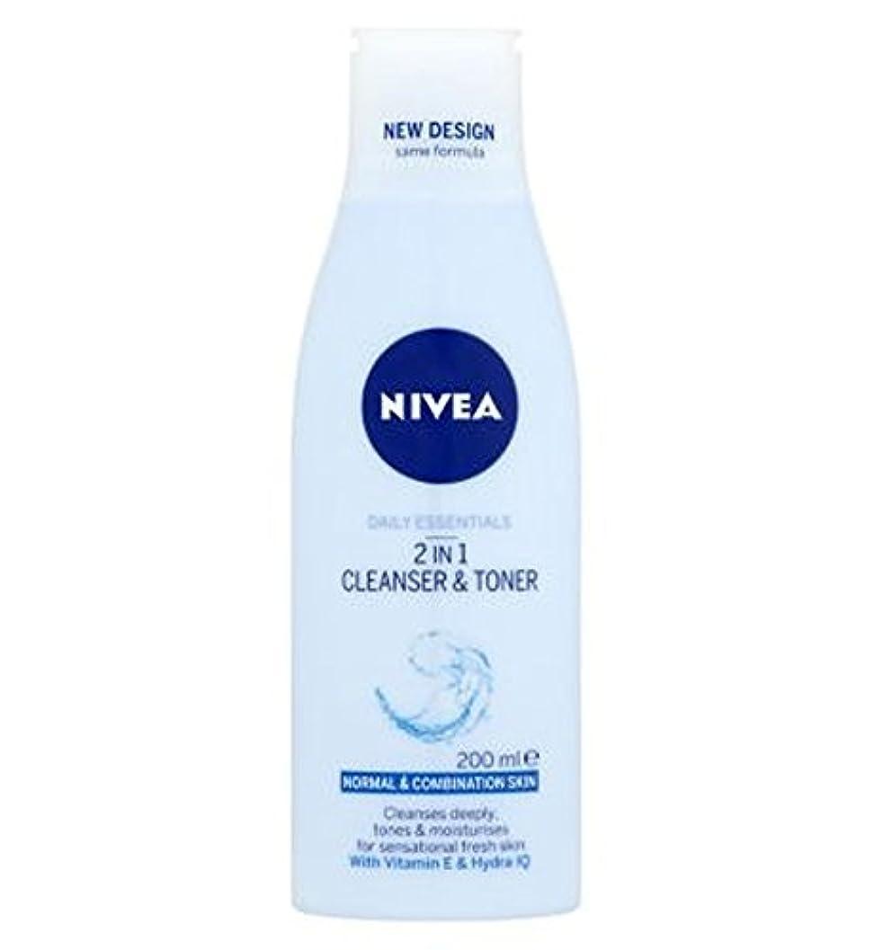 本当に性格二層Nivea Daily Essentials 2 in 1 Cleanser and Toner 200ml - ニベア生活必需品2 1クレンザーとトナー200ミリリットルで (Nivea) [並行輸入品]