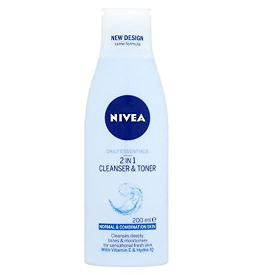 変換ブレーク周術期Nivea Daily Essentials 2 in 1 Cleanser and Toner 200ml - ニベア生活必需品2 1クレンザーとトナー200ミリリットルで (Nivea) [並行輸入品]