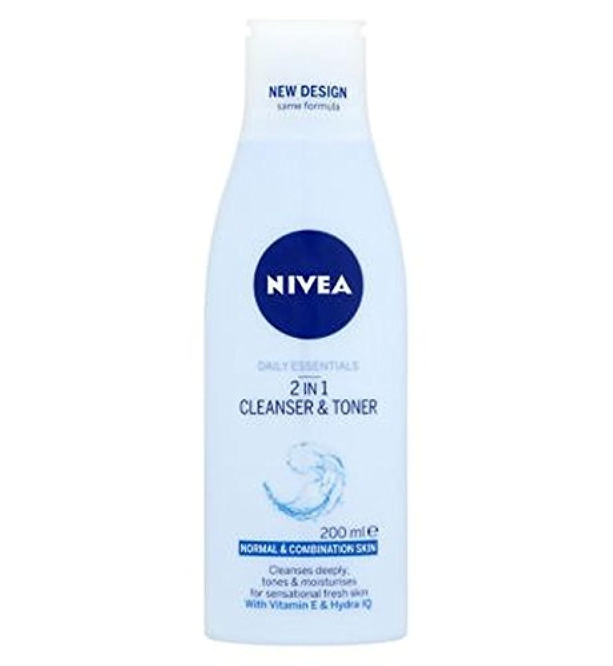 配偶者記録パテNivea Daily Essentials 2 in 1 Cleanser and Toner 200ml - ニベア生活必需品2 1クレンザーとトナー200ミリリットルで (Nivea) [並行輸入品]