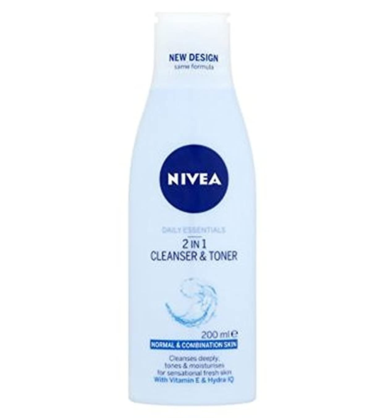 早熟下友情Nivea Daily Essentials 2 in 1 Cleanser and Toner 200ml - ニベア生活必需品2 1クレンザーとトナー200ミリリットルで (Nivea) [並行輸入品]