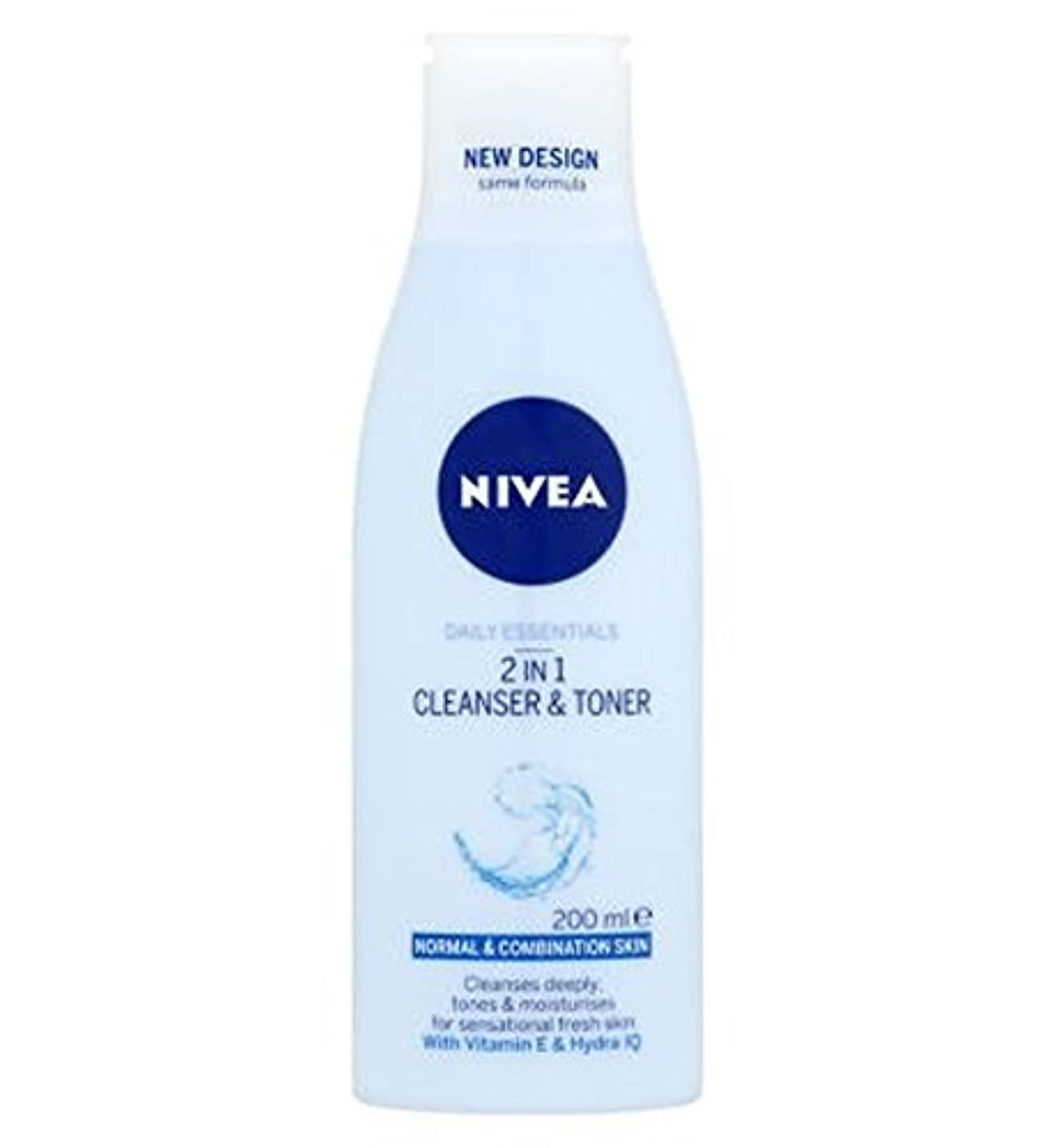 Nivea Daily Essentials 2 in 1 Cleanser and Toner 200ml - ニベア生活必需品2 1クレンザーとトナー200ミリリットルで (Nivea) [並行輸入品]
