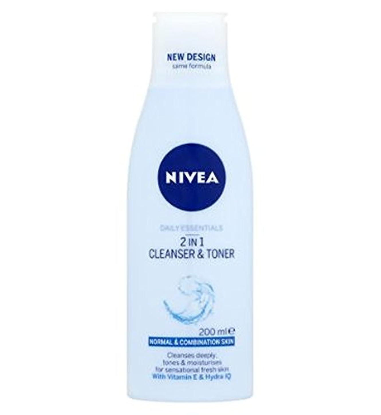 利用可能認可支払いNivea Daily Essentials 2 in 1 Cleanser and Toner 200ml - ニベア生活必需品2 1クレンザーとトナー200ミリリットルで (Nivea) [並行輸入品]