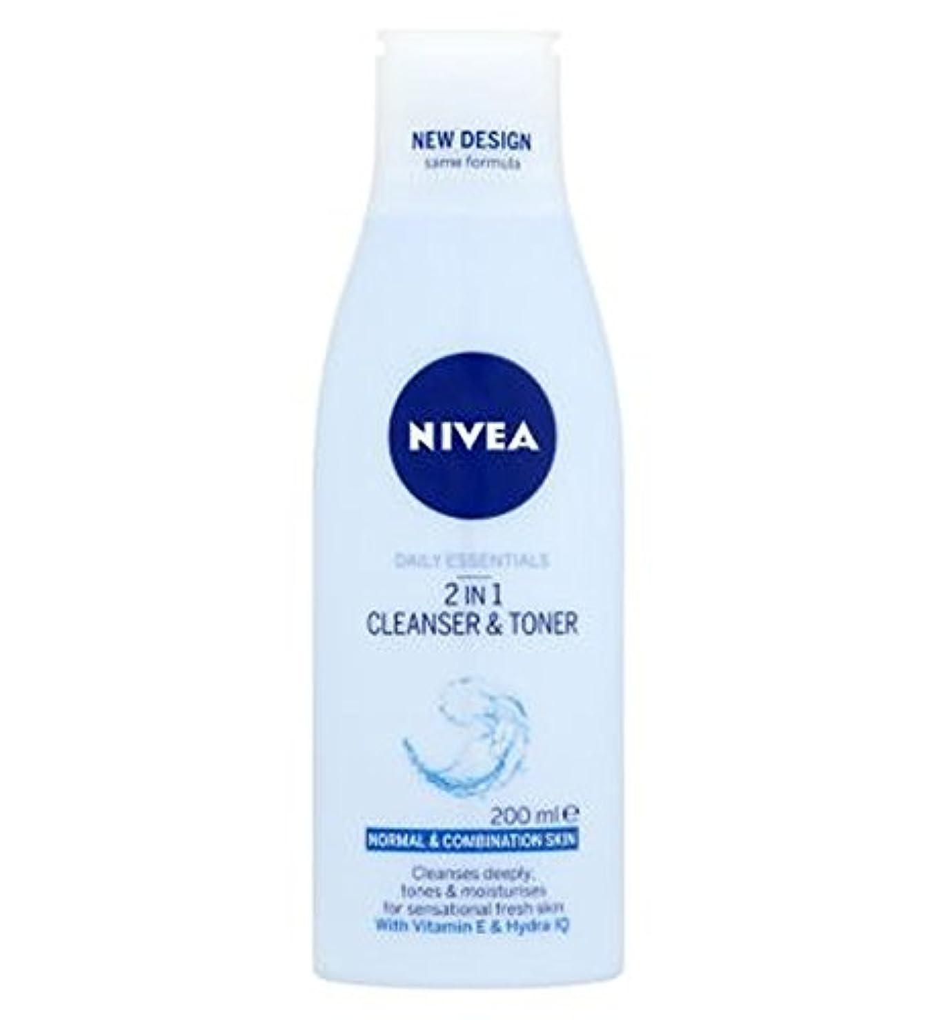 不従順シティに対応するNivea Daily Essentials 2 in 1 Cleanser and Toner 200ml - ニベア生活必需品2 1クレンザーとトナー200ミリリットルで (Nivea) [並行輸入品]
