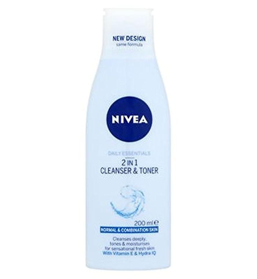 プロットエラー計器Nivea Daily Essentials 2 in 1 Cleanser and Toner 200ml - ニベア生活必需品2 1クレンザーとトナー200ミリリットルで (Nivea) [並行輸入品]
