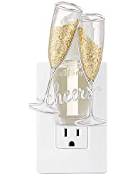 【Bath&Body Works/バス&ボディワークス】 ルームフレグランス プラグインスターター (本体のみ) チアーズシャンパン ナイトライト Wallflowers Fragrance Plug Cheers Champagne...