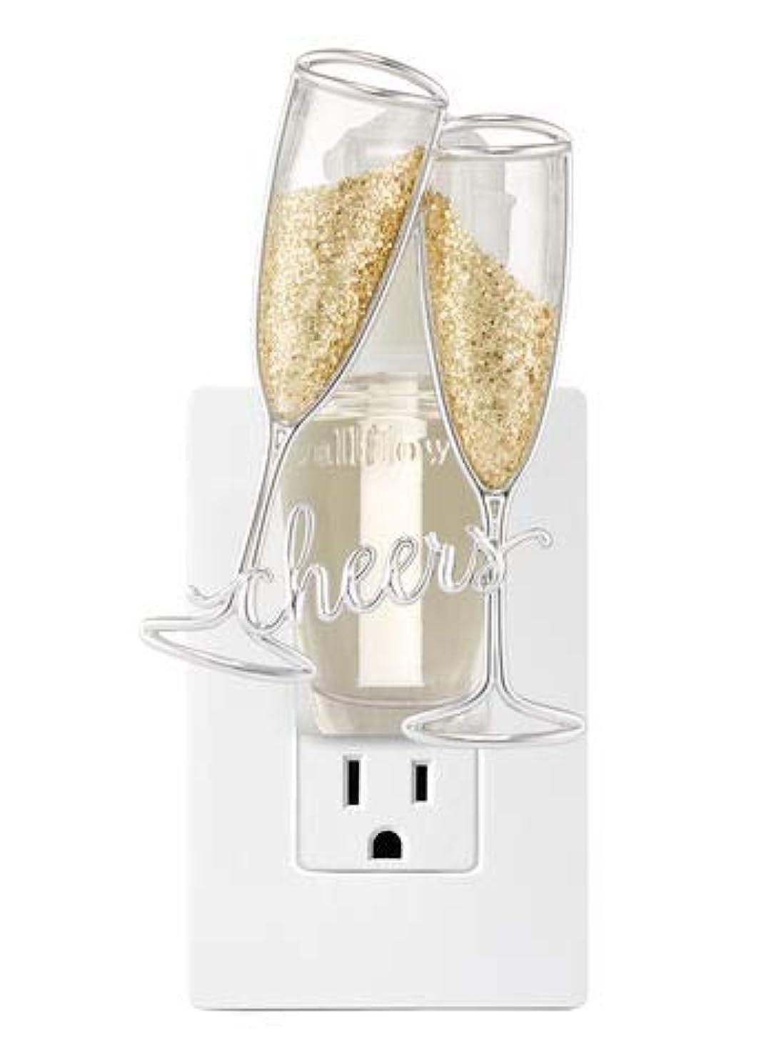 驚くべき困惑地質学【Bath&Body Works/バス&ボディワークス】 ルームフレグランス プラグインスターター (本体のみ) チアーズシャンパン ナイトライト Wallflowers Fragrance Plug Cheers Champagne...