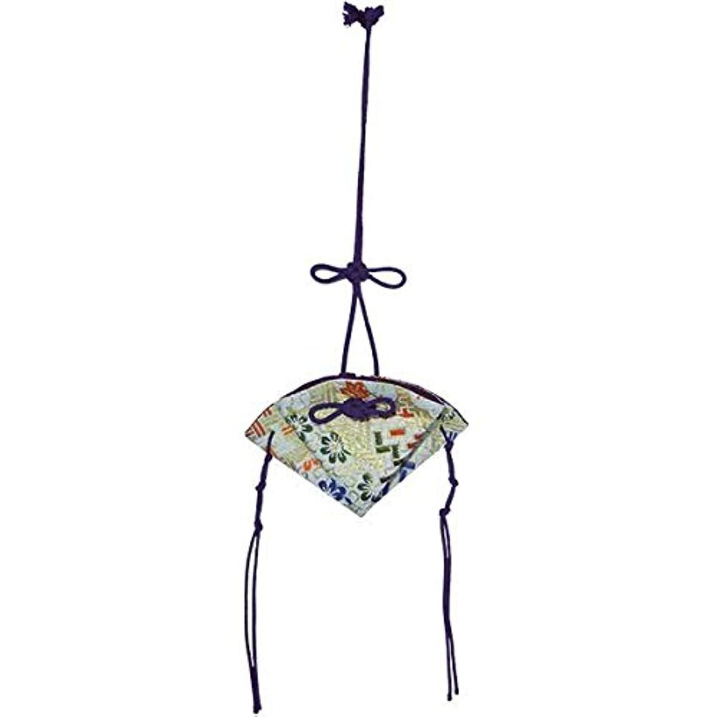 ワーカーグリット手のひら掛香 扇 錦 白(紫紐)