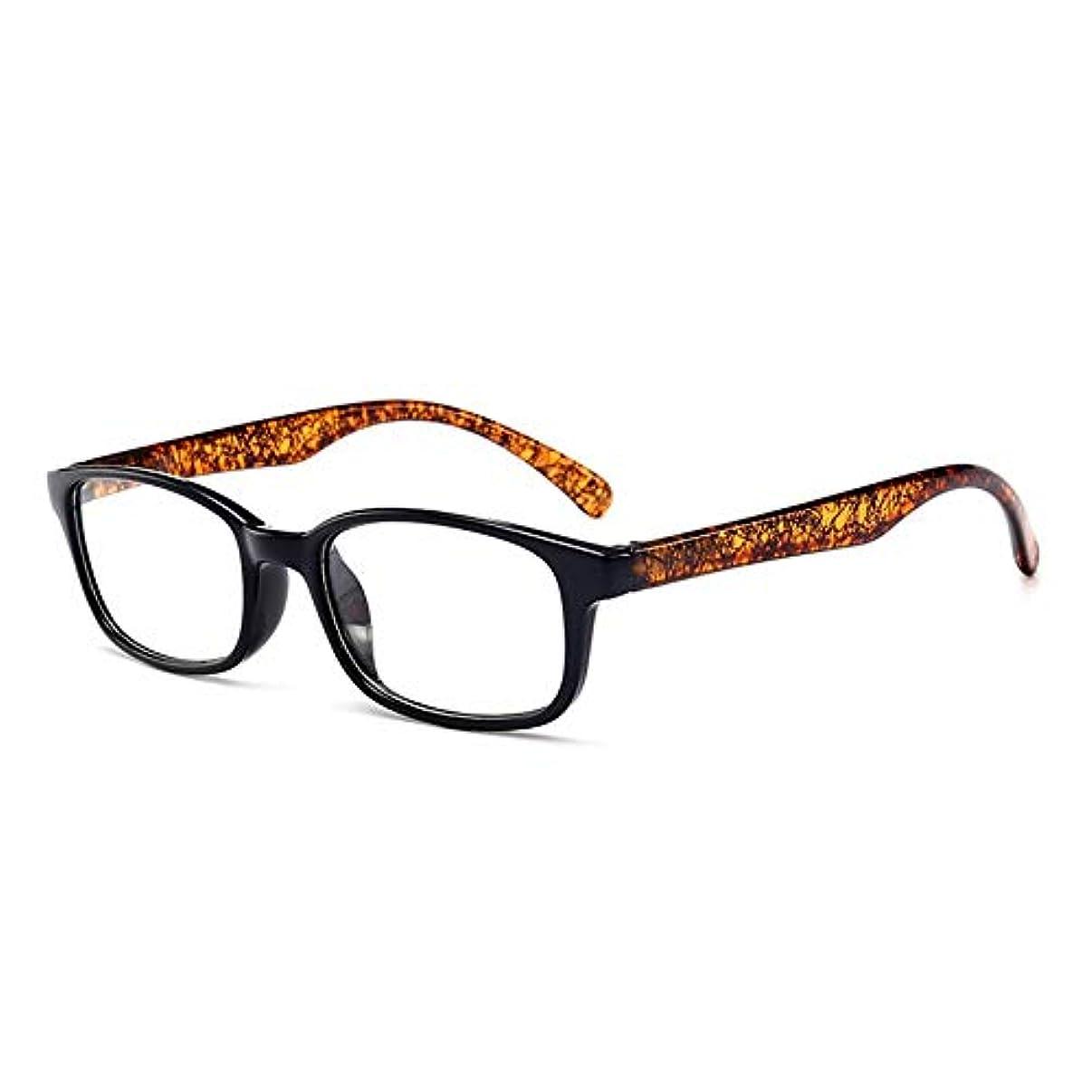オーバーフローベイビーチロT980老眼鏡視度+1.0?+4.0女性男性フルフレームラウンドレンズ老視メガネ超軽量抗疲労-ブラウン100