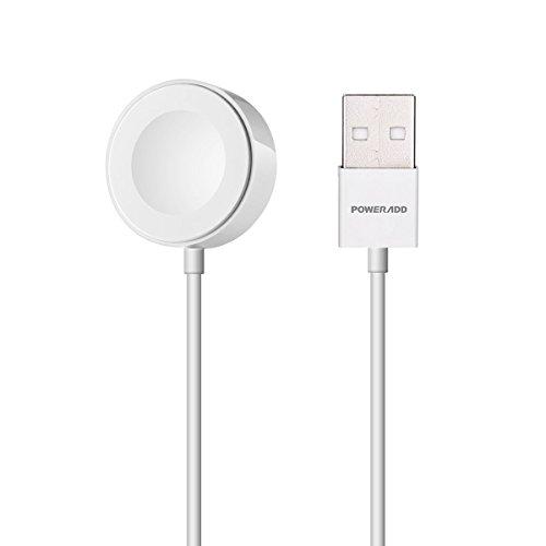 (Apple MFi 認証) Poweradd Apple Watch専用磁気ワイヤレス充電ケーブル (ホワイト 1m)