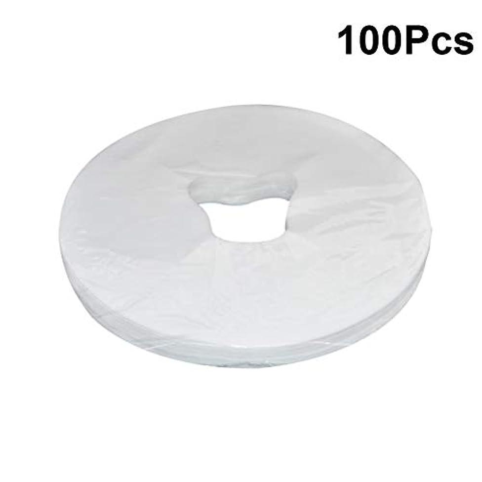 処理蜂火山学HEALIFTY 29×28センチメートル使い捨てフェイスマッサージカバーパッドフェイスホールピローマット用スパ100シート
