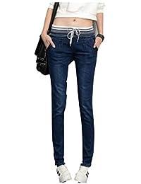 【hkukat】レギンス デニム ジーンズ ウエストゴム レディース ウエストゴムパンツ スキニー メンズ 大きいサイズ XL 2L 3L 4L 5L 6L ビッグサイズ プラスサイズ 女性 男性 ハイウエスト ズボン...
