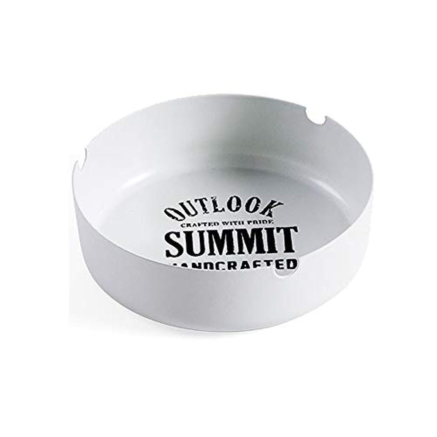 パイント霧バング北欧錬鉄灰皿リビングルームのコーヒーテーブル灰皿クリエイティブミニマリストのホームオフィスファッション人格灰タンク (色 : 白)