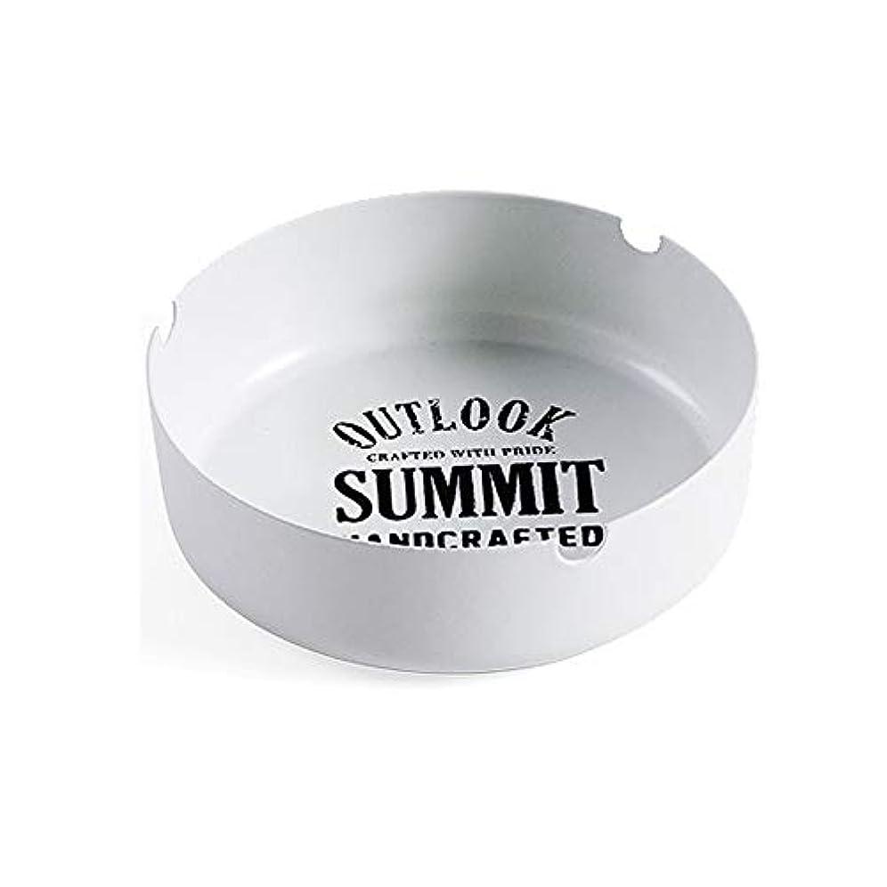 シロクマ無声で過言北欧錬鉄灰皿リビングルームのコーヒーテーブル灰皿クリエイティブミニマリストのホームオフィスファッション人格灰タンク (色 : 白)