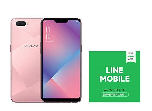 OPPO R15 Neo国内正規品6.2インチ/SIMフリースマートフォン/ダイヤモンド ピンク(4GB/64GB/4,230mAh) 873433  LINEモバイル エントリーパッケージセット