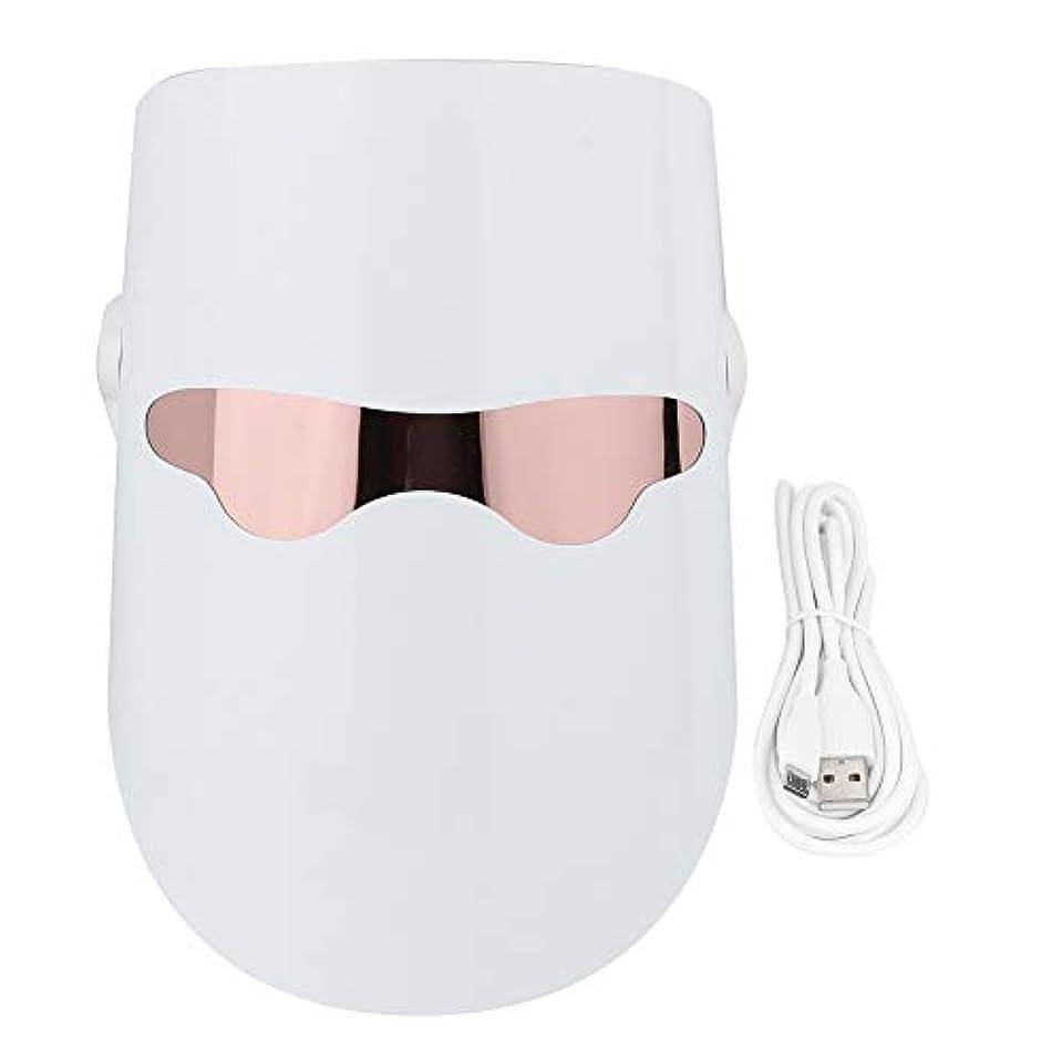 選ぶ取り付け瀬戸際3色フェイスマスクLEDフォトンフェイススキンケア保湿アンチエイジングタイトニングホワイトニング栄養吸収加熱肌若返り美容機