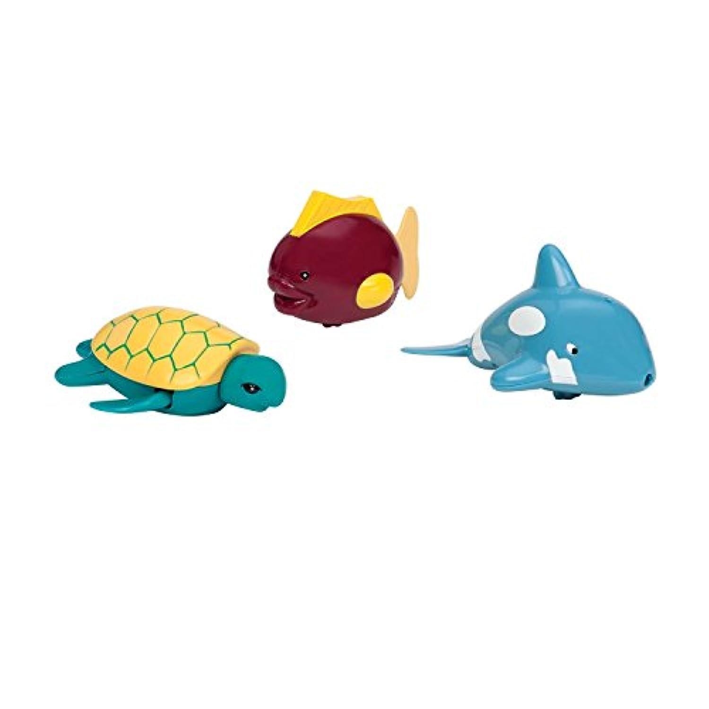 Battat Wind-Up Tub Pals - Dolphin/Turtle/Fish [並行輸入品]
