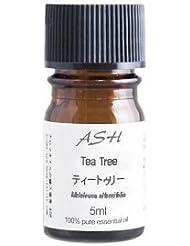 ASH ティートゥリー (ティーツリー) エッセンシャルオイル 5ml AEAJ表示基準適合認定精油