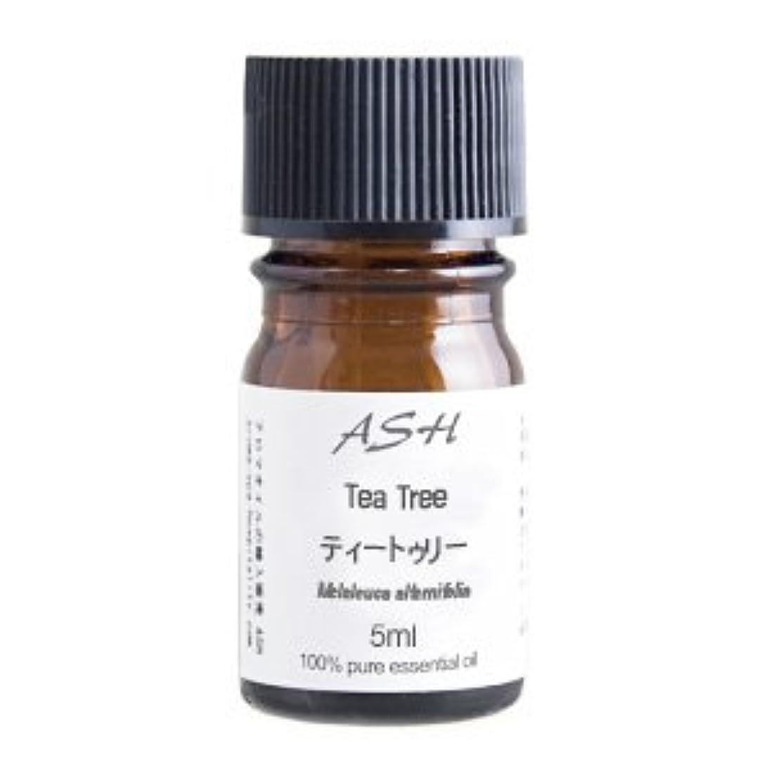 シールヶ月目今日ASH ティートゥリー (ティーツリー) エッセンシャルオイル 5ml AEAJ表示基準適合認定精油
