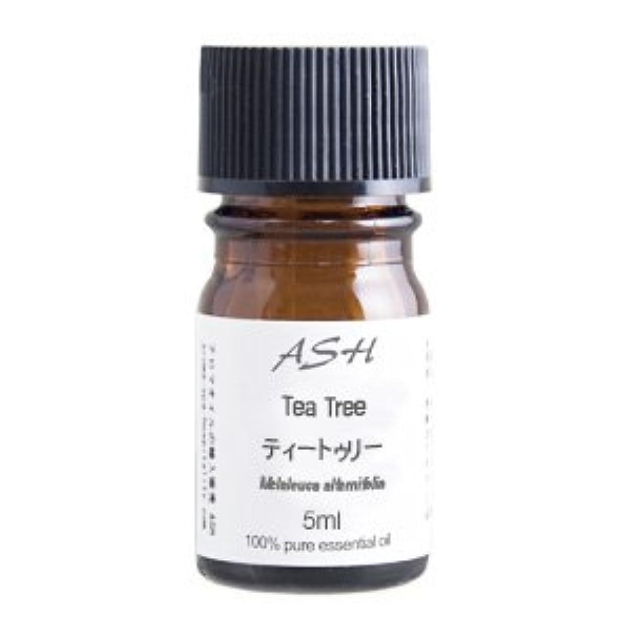 褒賞定常同化ASH ティートゥリー (ティーツリー) エッセンシャルオイル 5ml AEAJ表示基準適合認定精油